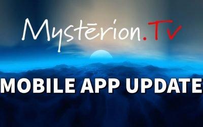 Mysterion.TV Mobile App Update